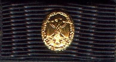Bandspange mit Auflage Bundeswehr Leistungsabzeichen in Gold Bandschnalle