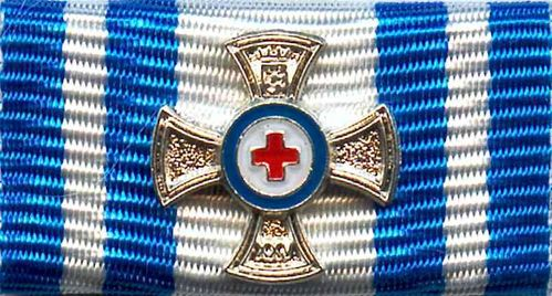507 - Bavarian Red Cross Medal of Honor Silver 25 Years ribbon bar