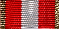 301-BS - Ribbon bar red-white - Bronce