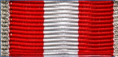 302-BS - Ribbon bar red-white - silver
